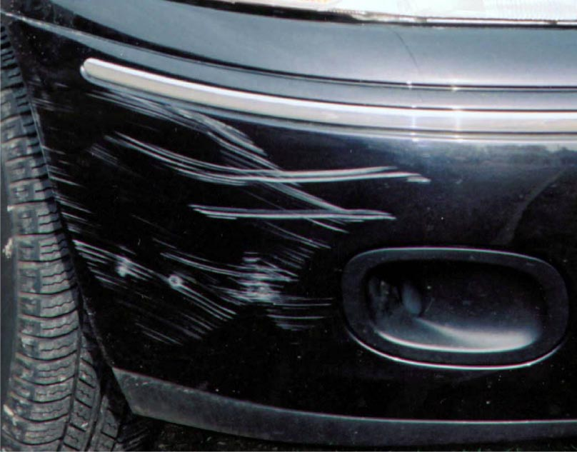 How to fix scrape on car bumper